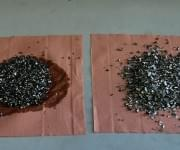Chips before and after degreased process